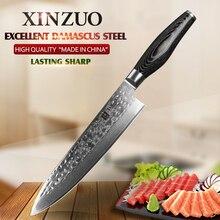 """Xinzuo 8 """"8-zoll-kochmesser Japanischen Damaskus edelstahl küchenmesser frau kochmesser mit pakkaholz griff kostenloser versand"""