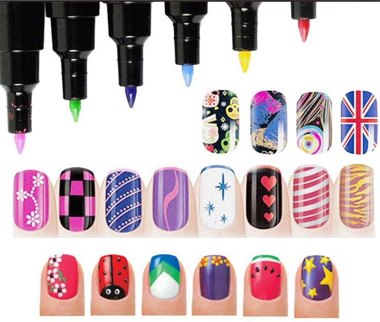 New Nail Polish Pen 16 Colors 3D Nail Art Marker Paint Pen Manicure Design Nails 3D Design Nail Beauty Tools Paint Pens