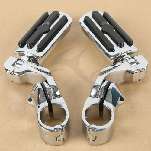 Chrome Black 1.25 3.2cm Adjustable Highway Foot Pegs Pedals For Harley Davidson New chrome lion paw foot pegs