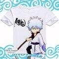 Anime GINTAMA T Shirt Sakata Gintoki Funny Cool T-shirts Shimura Shinpachi Short Sleeve Printed Tops Sadaharu Tees