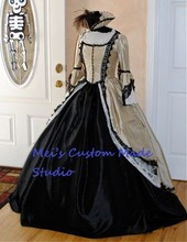 Gothic Steampunk Pirate Marie Antoinette Gown /Civil War Ball Gowns and Southern Belle dresses /Event Dress
