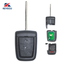 KEYECU Replacement for Holden Commodore VE Remote Car Key Fob 433MHz ID46 Ready for Cutting and Programming