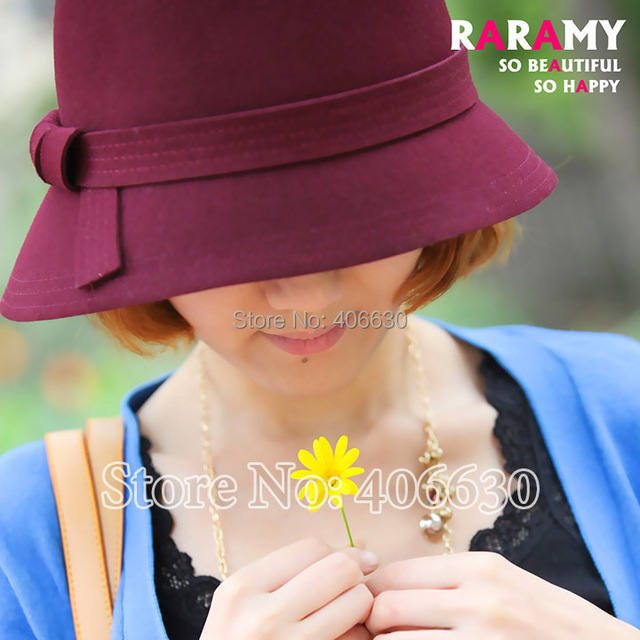 Winter Vintage Wool Felt Bucket Hats For Women Ladies Dress Church Cloche Hats Female Chapeau Free Shipping SDDW-026