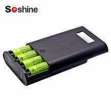 Carregador de Bateria Soshine 18650 Power Bank Display Lcd S Substituíveis Profissional de Plástico Preto