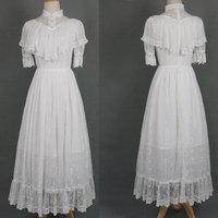 Vintage Women's Long Lace Dress Retro Illusion Neck Party Dress with Detachable Sleeves by Miss Point
