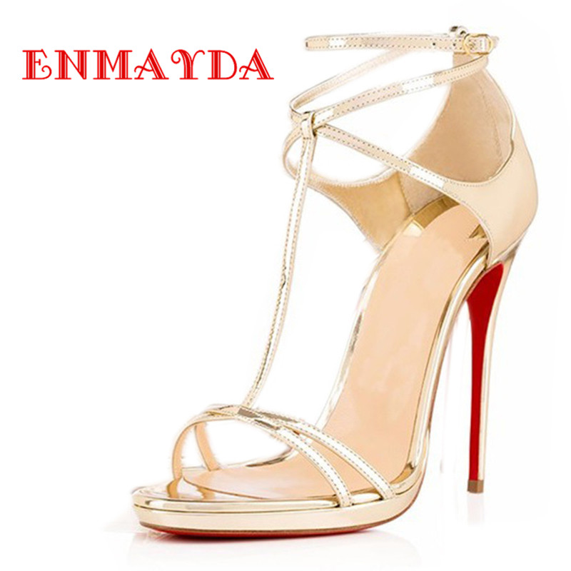 ФОТО ENMAYDA Fashion Sexy High Heels Women Shoes Pointed Toe Summer Wedding Shoes Woman Pumps Women Sandals Shoes Plus Size 34-46
