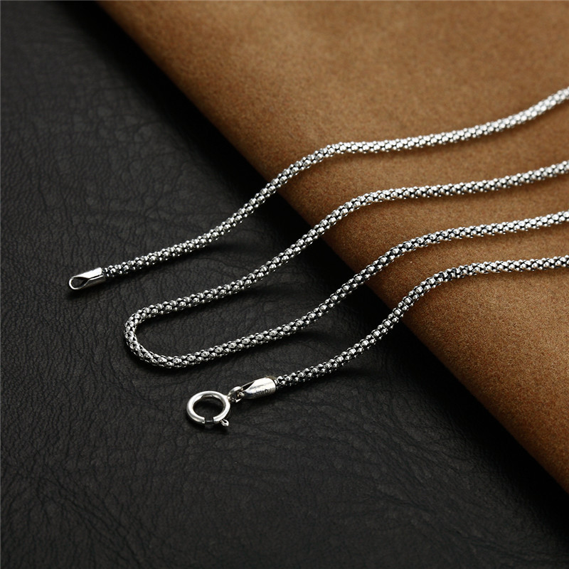 necklace curb chains boys solid real p women sterling chain figaro silver s mens