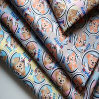 New PVC Fabrics Waterproof Oxford Cloth For Patchwork Chemical Fiber Cartoon Duffy S DIY Sewing Curtain