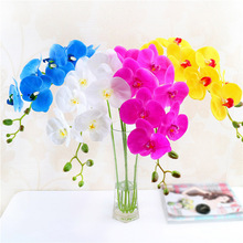 Single 9 flower Phalaenopsis Artificial plant Creative home simulation silk artificial mothers day