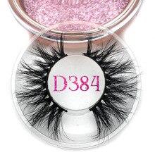 Mikiwi Full Long D384 3D Mink Lashes Long Lasting Mink Eyelashes Big Dramatic Volume Eyelashes Strip Individual False Eyelash