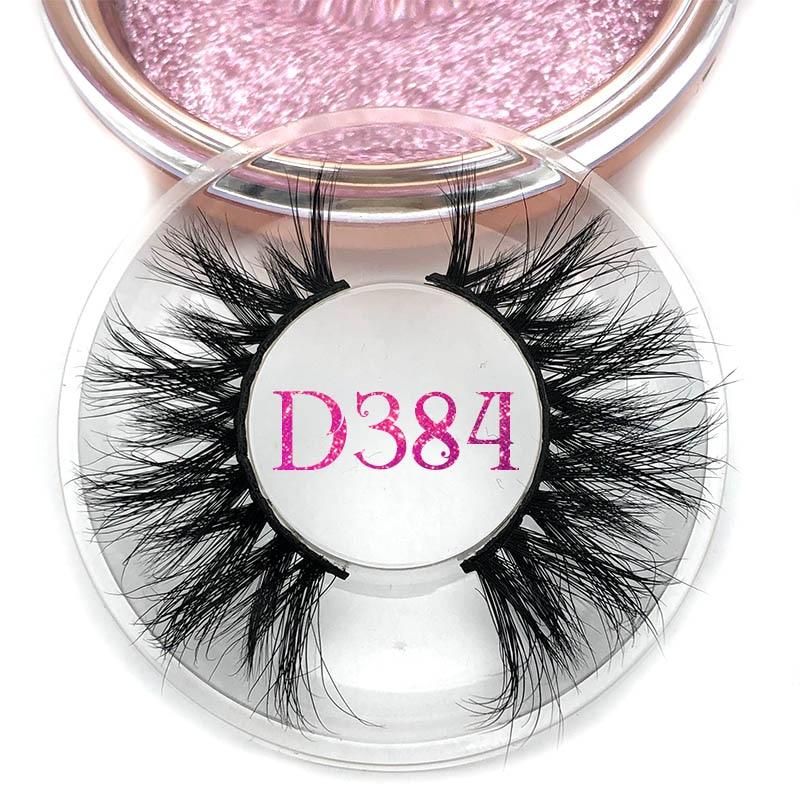 Mikiwi Full Long D384 3D Mink Lashes Long Lasting Mink Eyelashes Big Dramatic Volumn Eyelashes Strip Individual False Eyelash