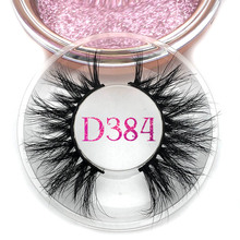 Mikiwi Volle Lange D384 3D Nerz Wimpern Langlebig Nerz Wimpern Großen Dramatische Volumen Wimpern Streifen Individuelle Falsche Wimpern