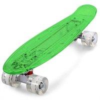 Outlife CL-403 Transparant PC Cool LED Skateboard Compleet 22 inch Retro Cruiser Longboard Voor Kind Max Belasting 150 kg
