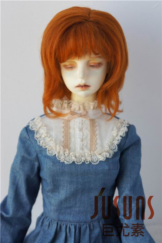 JD248 1/3 SD Slight lady curly BJD mohair doll wig Fashion doll wigd 8-9 inch ...
