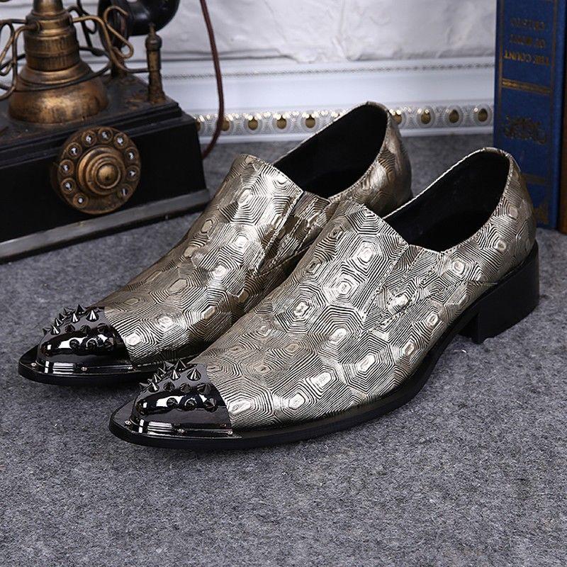 Здесь продается  Plus Size Luxury Pointed Toe Slip on Man Formal Dress Loafers Genuine Leather Men