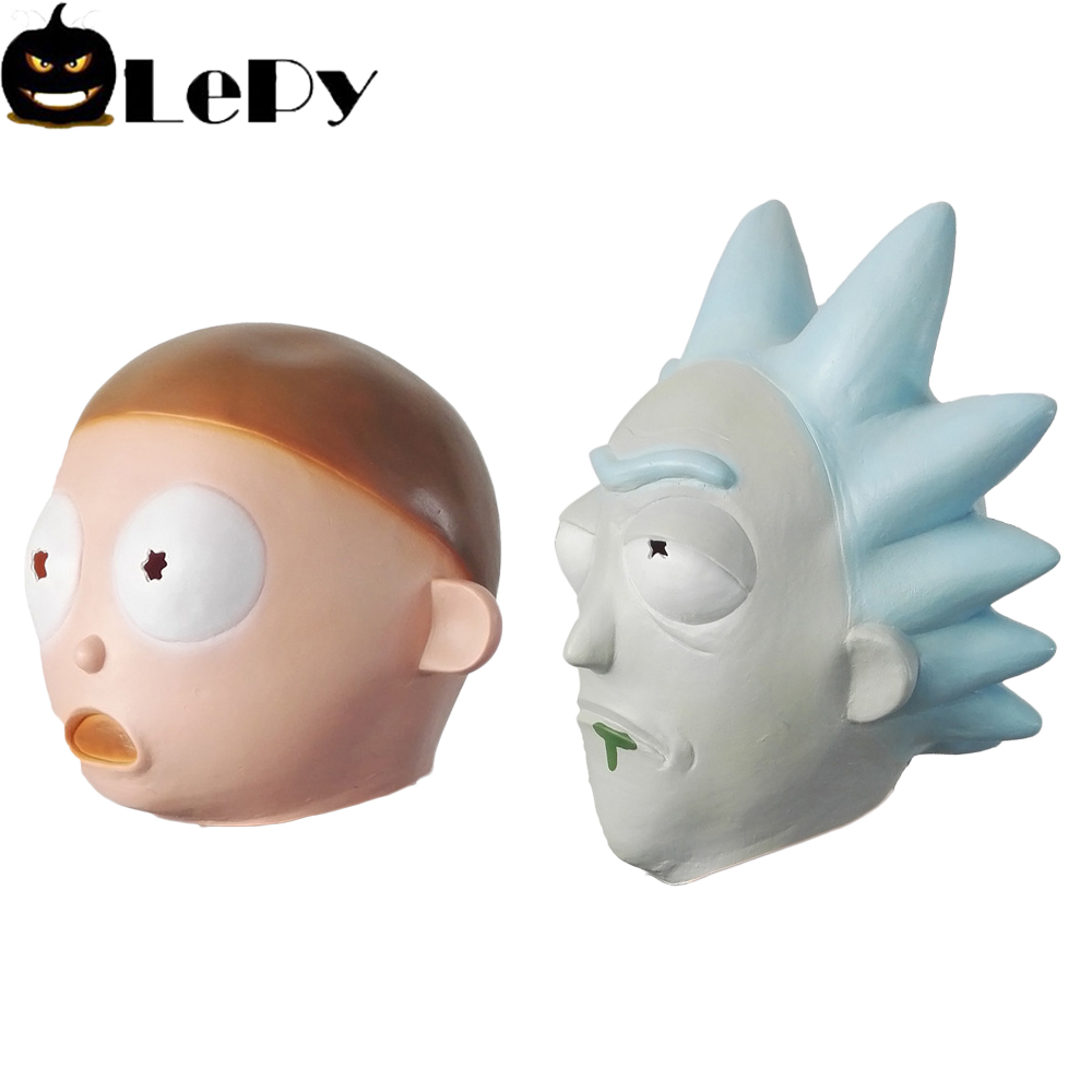 Rick and Morty Halloween Party Cosplay Head Masks Latex Helmet Cosplay Props