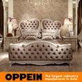 Morden Cama Con Diseño de Lujo de Estilo Europeo dormitorio muebles de China fábrica de muebles OB-0314002