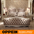 Morden European Style King Bed With Luxury Design bedroom furniture from China furniture factory OB-0314002