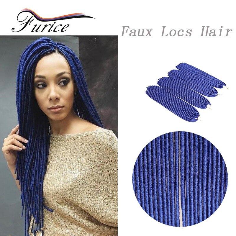 Faux Locs Blue Braiding Hair Ombre Braiding Senegalese Twist Hair