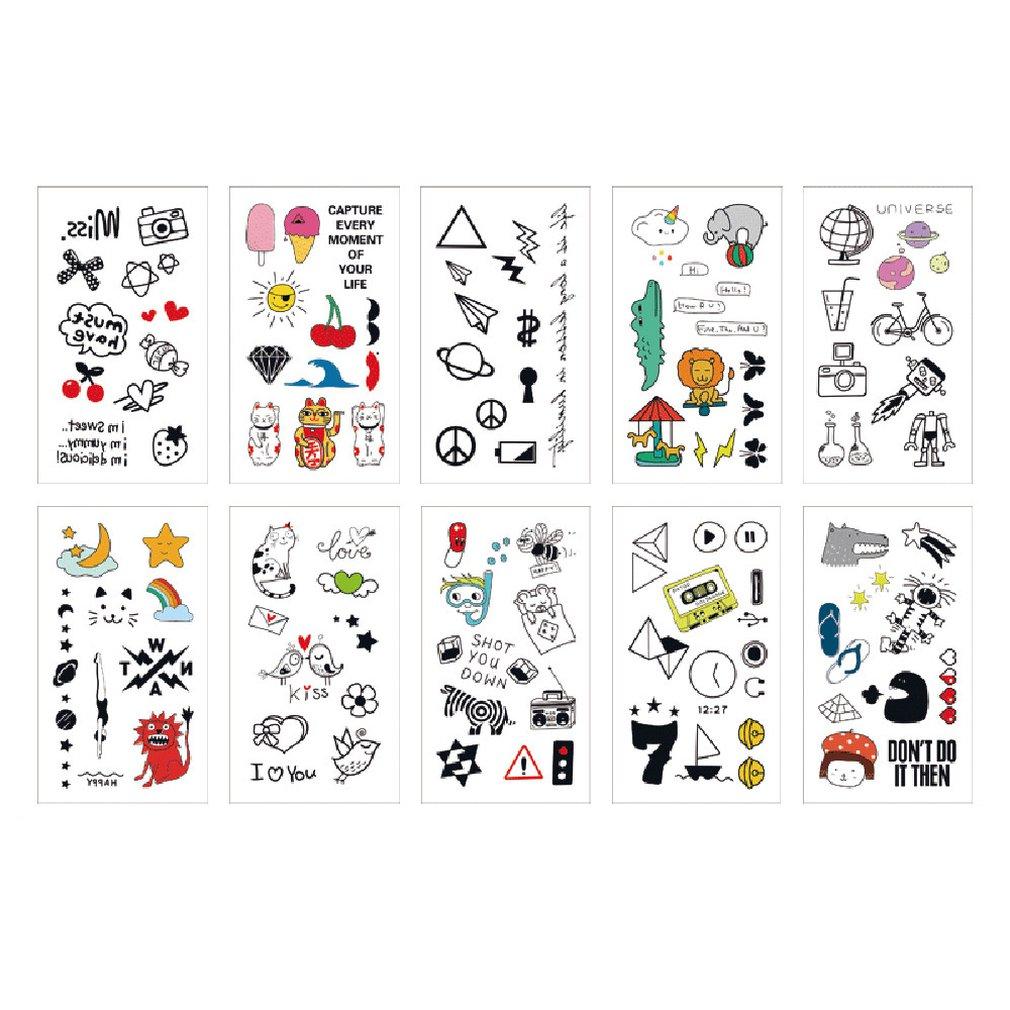 2019 Cartoon Temporary Tattoo Sticker Safe Children Funny Pattern Body Art Tattoos Best Gift