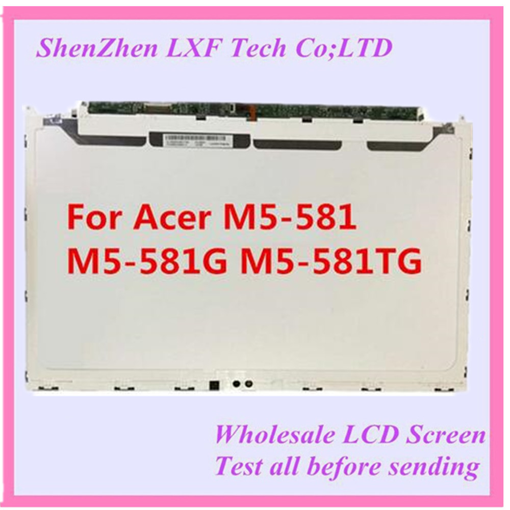15.6'' Laptop lcd led screen  F2156WH6 LP156WH6 TJA1 For Acer M5-581 M5-581G M5-581TG LCD Screen