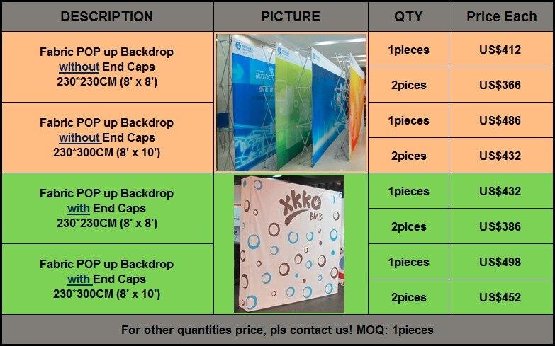 8X10ft тканевый фон-баннер всплывающий вверх(с принтом вашего дизайна