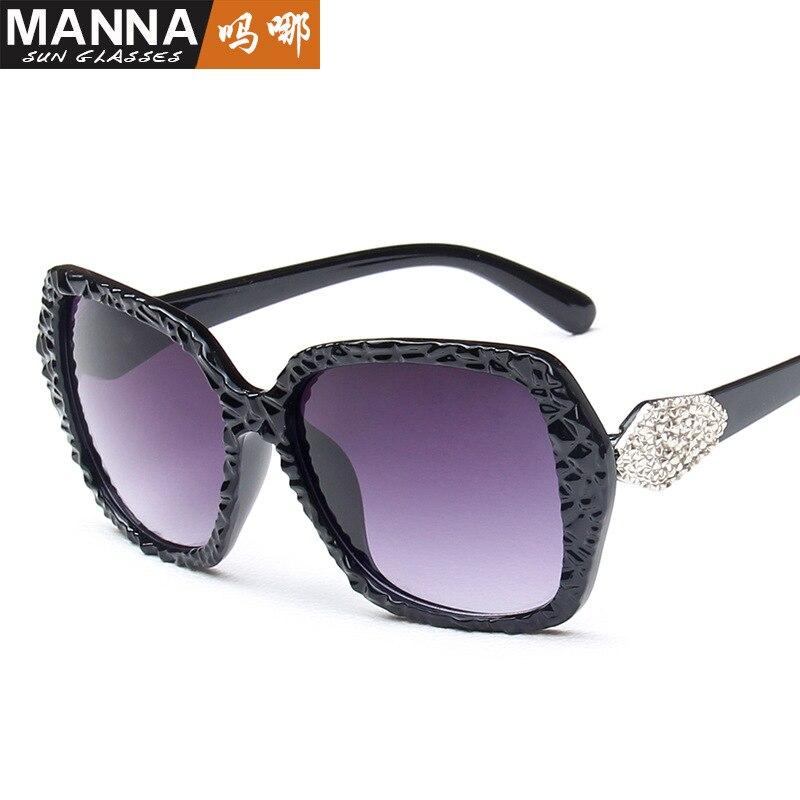 2018 new tide brand sunglasses fan fan with large box sunglasses retro corner glasses wholesale
