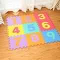 10 pçs/set Enigma Tapete Jogo do Bebê Tapete De Espuma Esteira do Enigma de EVA das Crianças Rastejando Tapetes piso de Mosaico