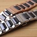 Ремешок для часов  из керамики и нержавеющей стали  14 мм  16 мм  18 мм  20 мм  22 мм  розовое золото