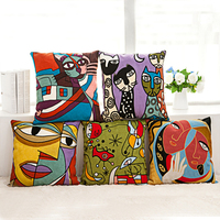 2016 Impression Paint Embroidery Cushion Cover Sofa Throw Pillow Cases For Kids Decoration F510