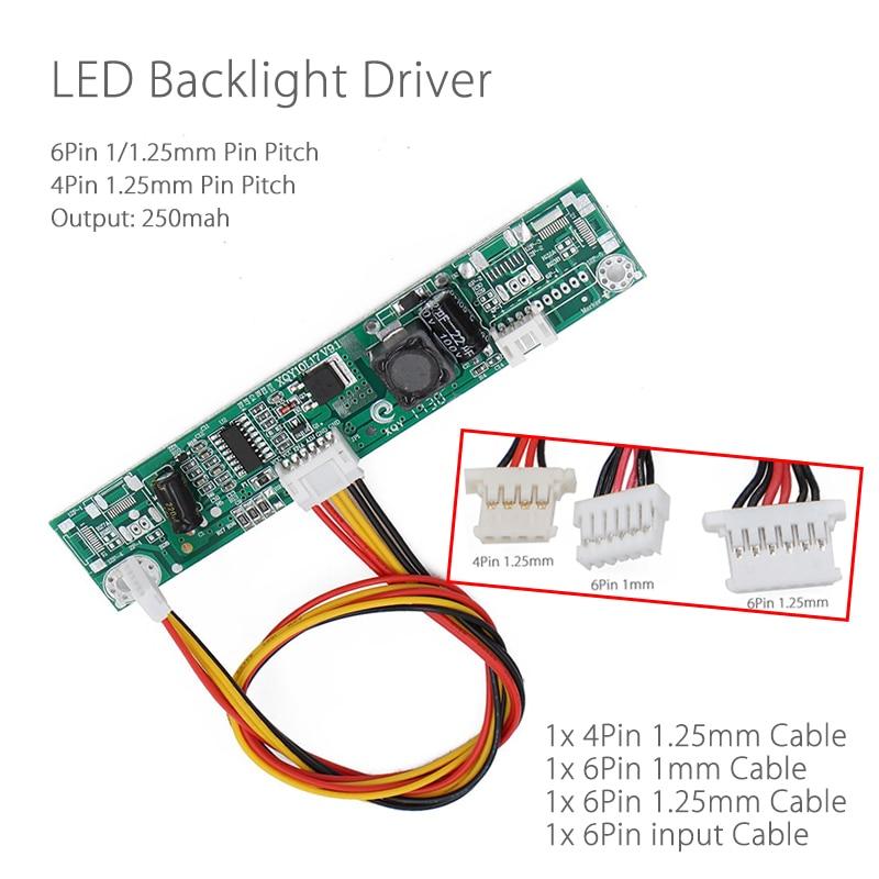 XQY10L17 V9 Universal Inverter Backlight LED Driver WLED Constant Current Board LED Strip Tester For 6Pin 1.25mm/1mm 4Pin 1.25mm