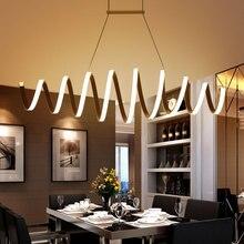 AC85-260V Moderno llevó la lámpara para el comedor bar de cocina de aluminio de acrílico blanco colgante pendiente de la lámpara de la lámpara envío gratis