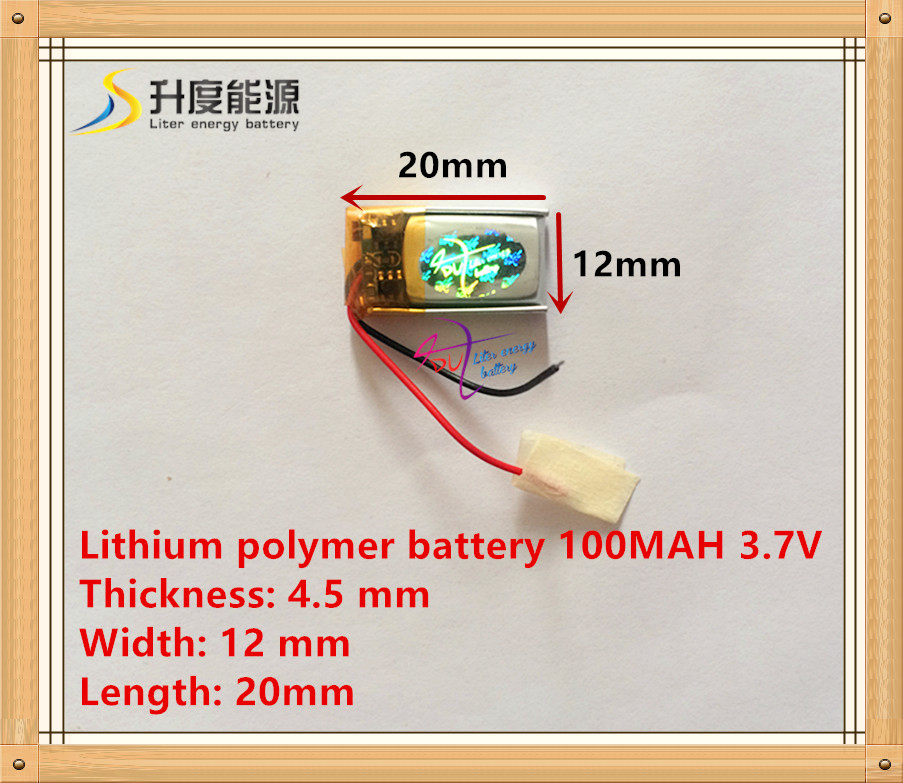 With A Protective Plate 451220 3.7V 100MAH MP3 MP4 MP5 Battery Bluetooth Headset Battery