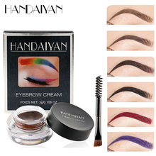 New Arrivals Professional Eyebrow Gel 12 Colors Brow Tint Makeup Waterproof Eye Enhancer Brown With Brush Tools