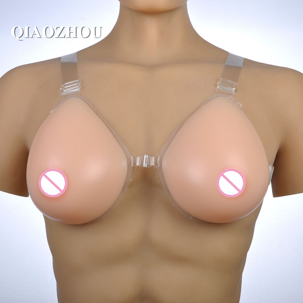 1200g DD cup 100% silicon transgender boobs artificial breast with straps teardrop real breasts shape tan skin nude skin 1 pair gg cup nude skin tone 2800g silicone breast form with straps