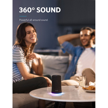 Anker Soundcore Flare Portable Bluetooth 360' Speaker with All-Round Sound Enhanced Bass Ambient LED Light IPX7 Waterproof 1