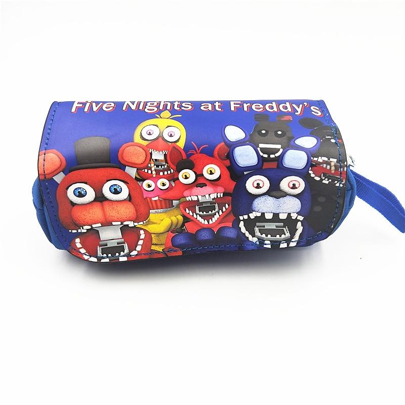 Cosmetic make up Bags  Five Nights at Freddy's women Eyebrow Pencil Bag Rick and Morty Jack Skellington Handbag Women Clutch тушь make up factory make up factory ma120lwhdr04