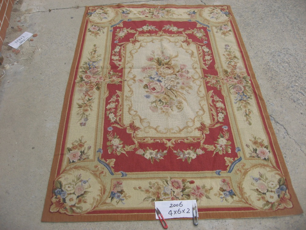 Livraison gratuite 10 K 4'x6 'tapis de laine à l'aiguille nouée à la main, 100% laine et tapis fait main pour la décoration intérieure