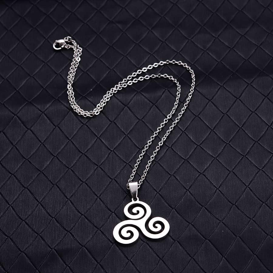 New Silver Triskele Triskelion Allison Argent Teen Wolf  Choker Pendant Necklace
