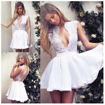 Smileven Short Wedding Dress 2019 Appliques Lace Top Bride Dresses Mini Wedding Bridal Gowns 2019 Custom Made