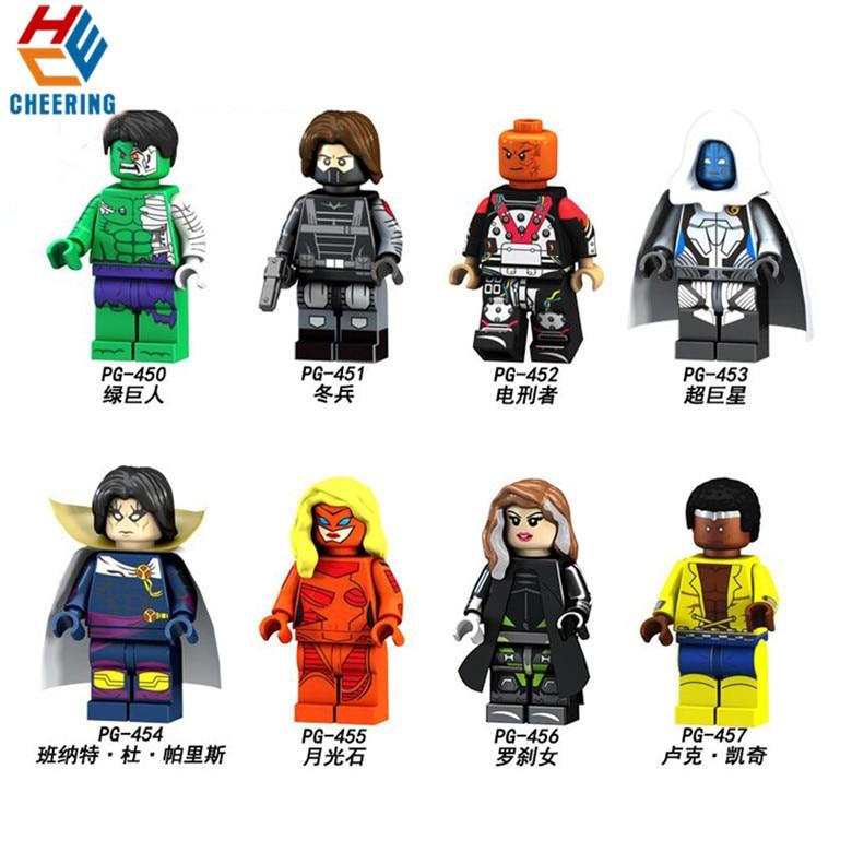 Offen 20 Pcs Super Heroes Electrocutioner Riesen Rogue Luke Käfig Hulk Winter Soldat Bausteine Für Spielzeug Kinder Pg8117 Attraktive Designs;