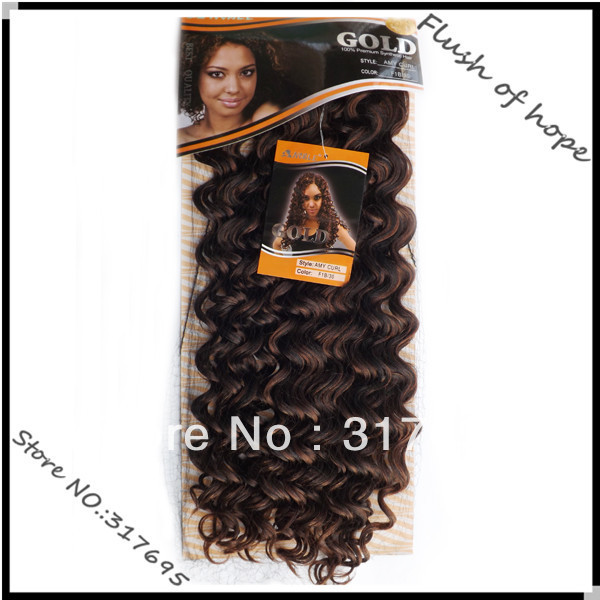 Wholesale Noble Gold Amy Curl Synthetic Hair Extensions Premium