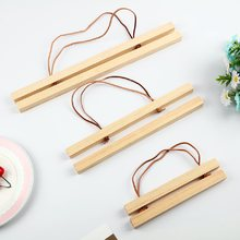 New Wooden Magnet Poster Hanger Photo Frame White Wood DIY Picture Cloth Hanging Wall Art Home Decor 21-60 cm a4 A3 Custom Size(China)