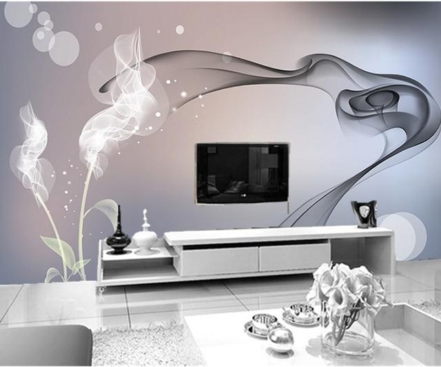 Custom Papel De Parede Dream Smoke Flowers Modern Wallpaperliving Room Bedroom TV Background