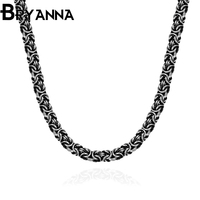 Bryanna Punk 7mm 60cm Figaro Chains Necklaces For Man Retro Jewelry 316L Stainless Steel Vintage Men
