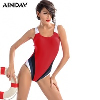 Professional Sports Swimwear Women One Piece Brand Racerback Swimsuit Monokini High Quality Slim Bathing Suits Badpakken