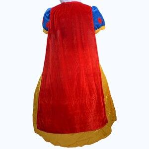 Image 2 - Women Adult Halloween Cartoon Princess Snow White Costume For Sale white snow princess With bustle NL222
