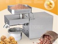 220 V/110 V автоматический масляный пресс машина, маслобойня дома, нержавеющая сталь отделитель масла из семян, мини для холодной и горячей воды,