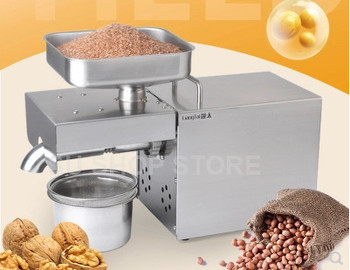 220V/110V automatic oil press machine,oil presser Home ,stainless steel seed oil extractor,Mini Cold hot oil press machine sg30 1 edible peanut oil press machine high oil extraction rate labor saving stainless steel oil presser for household