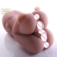 Male Masturbator Lifelike Virgin Pussy Ass doll 3D Realistic Tight Vagina Anus Medical TPE Ass Sex Doll sex toys for men